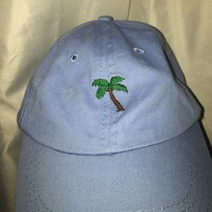Blue palm tree hat